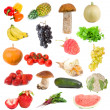 Stock Photo: Fruits and vegetables collection