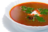 Close-up sopa de beterraba — Foto Stock