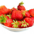 Many strawberries on plate — Stock Photo #1815042