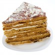 Piece of home made honey cake — Stock Photo #1815903
