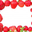 Ripe strawberries forming frame — Stock Photo #1816599