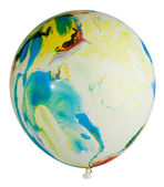 Swollen multicolored balloon — Stock Photo