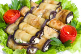 Many stuffed eggplant — Stock Photo