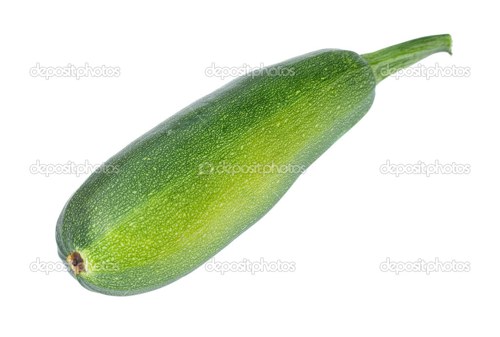 Green vegetable marrow or zucchini, isolated on white — Stock Photo #2307132