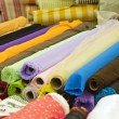 Variety of fabric color samples - Stock Photo