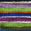 Colorful handmade knitting texture — Stock Photo