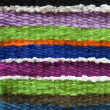 Stock Photo: Colorful handmade knitting texture