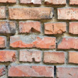 Red brick background — Stock Photo