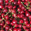 Red cherry background — Stock Photo