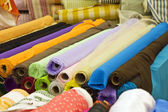 Variety of fabric color samples — Stock Photo