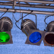 Multicolor spot ligts — Stock Photo