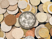 Collection of various coins — Stock Photo