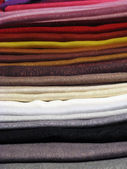 Set of colored clothes — Stock Photo