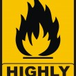 Highly Flamable — Stock Photo