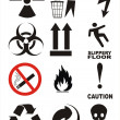 Royalty-Free Stock Photo: Useful Warning Symbols