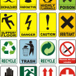 Useful Warning Symbols — Stock Photo