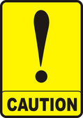 Caution Sign — Stock Photo