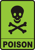 Poison Sign — Stock Photo