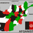Afghanistan Political Map — Stock Photo