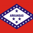 Stock Photo: Arkansas Flag