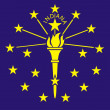 Indiana Flag — Stock Photo