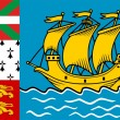 Royalty-Free Stock Photo: Saint Pierre And Miquelon Flag