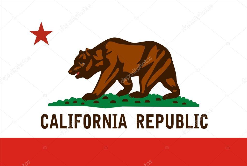 California Flag With Newport Beach