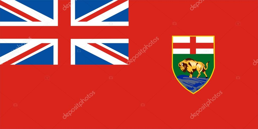 This is Manitoba flag illustration computer generated. — Stock Photo #1919089