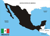Mapa do méxico — Foto Stock