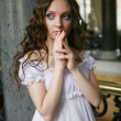 Young victorian lady — Stock Photo