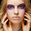 Sexy woman with creative makeup — Stock fotografie