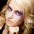 sexy Frau mit kreativen Make-up — Stockfoto