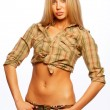 Beautiful young blond woman - Stock Photo