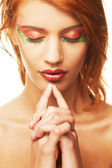 Sexy woman with creative makeup — Stock Photo