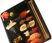 Japanese traditional sushi set — Stock Photo