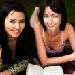 Two girls relaxing in park — Stock Photo #1670062