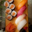 Tasty sushi in japanese restaraunt - Foto Stock