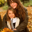 Autumn Sisters — Stock Photo