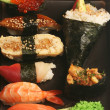 Japanese traditional sushi — Stock Photo