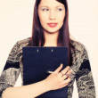 Stock Photo: Portrait of a beautiful business woman