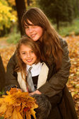 Autumn Sisters — Stock Photo