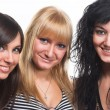 Three teen girls — Stock Photo
