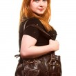 Beautiful woman with bag — Stock Photo #1737366