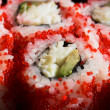 rouleaux au saumon, crabe et avocat — Photo