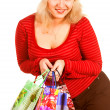 Stock Photo: Shopping pretty woman