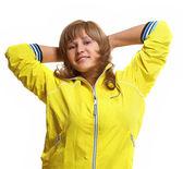 Mulher jovem alegre e esportiva — Foto Stock