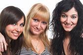 Three teen girls — Stock Photo