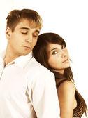 Joven hermosa pareja heterosexual caucásico — Foto de Stock