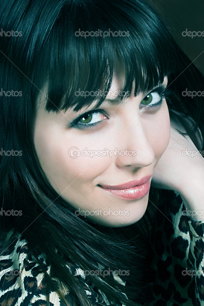 Portrait of a beautiful, seductive business woman — Stock Photo #1736631