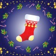 Christmas sock - Stock Vector